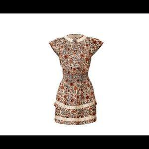 SAYLOR paisley blouson mini dress